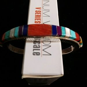 Jewelry - Sterling Silver Zuni Inlay Multistone Bracelet